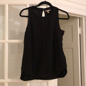 black cable knit tank top (rayon)